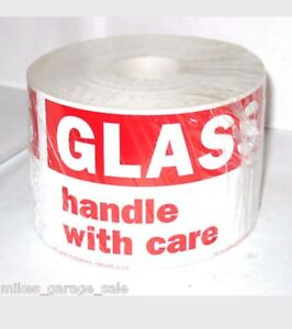2000 Glass Handle With Care 3 X 5 Shipping Packaging Label Stickers 2000 Ct