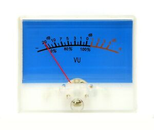 10pc Sd 315h Panel Vu Meter 20 4db 500ua 650 65x53mm With 12v Blue Bulb Lamp