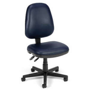 Navy Vinyl Posture Computer Desk Office Task Chair