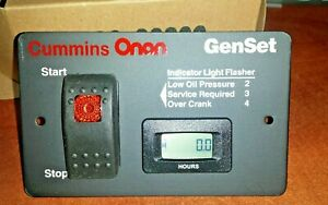 Onan 12 Volt Remote Start Switch Digital Hour Meter