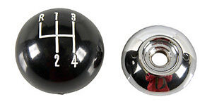 Black Ball 4 Speed 5 16 18 Shift Knob For Muncie Shifters