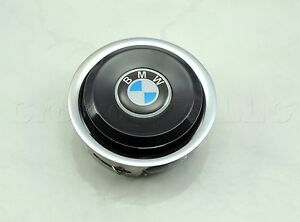 Nardi Steering Wheel Horn Button Classic Black With Chrome Trim And Bmw Logo