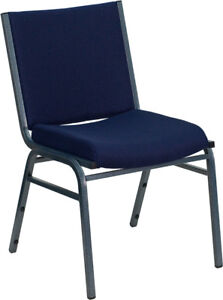 Heavy Duty Blue Fabric Stack Office Guest Chair