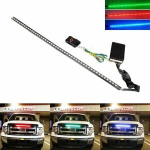 24 7 color Rgb Led Knight Rider Strip Light For Under Hood Behind Grille