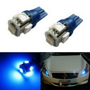 2 Blue 168 2825 2827 5 Smd Led Bulbs Parking Lights 11