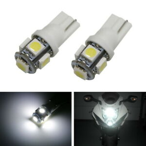 Xenon White 5 smd 2825 168 194 Led Bulbs For Motorcycle Bike Parking Lights
