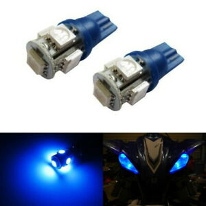 Ultra Blue 5 smd 2825 168 194 Led Bulbs For Motorcycle Bike Parking Lights