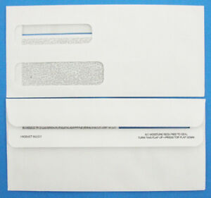 250 Double Window Statement Invoice Envelopes Peachtree Press Seal Business