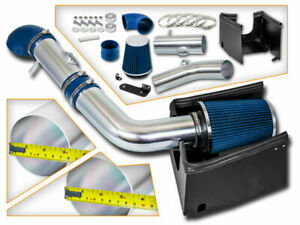 Bcp 05 08 Ford F150 5 4l V8 Cold Shield Cold Air Intake Blue Filter