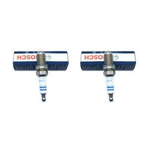 Set Of 2 Spark Plugs 4417 Bosch Platinum 4 For Performance For Bmw Mercedes