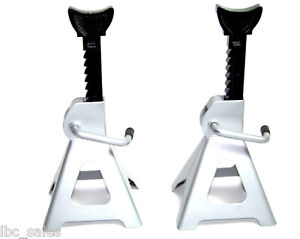 2 New 6 Ton Jack Stand Ratchet Type For Truck Car Van