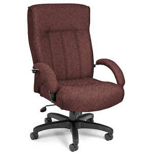 High Back Big Tall Burgundy Manager Office Computer Chair