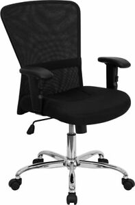 Lot Of 12 Black Mesh Computer Office Chairs With Arms