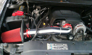 Red 09 13 Chevy Avalanche 5 3 6 0l V8 Cold Air Intake Kit