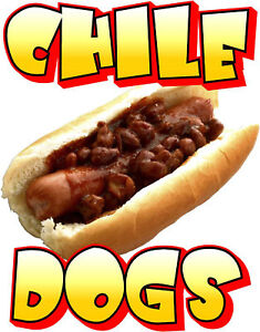 Contour cut Food Sign Decal Chile Dogs