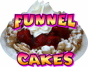 Contour cut Food Sign Decal Funnel Cakes