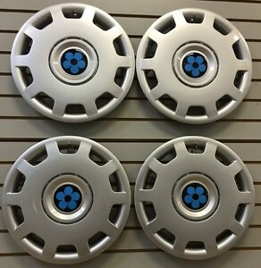 1999 2005 Vw Passat Jetta Golf Blue Daisy Hubcap Wheelcover Set