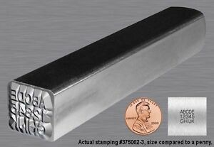 Steel Hand Stamp custom Metal Marking Punch small logo Estimates Available