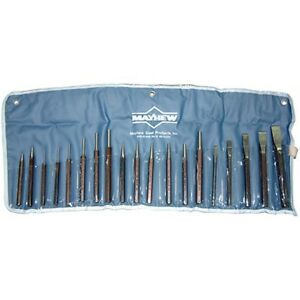 Mayhew Tools 61019 19 Piece Punch And Chisel Set