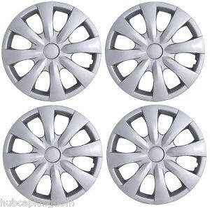 New 2009 2013 Toyota Corolla 15 8 spoke Hubcaps Wheelcover Set Of 4