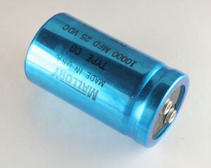 New 2pcs 10000mfd 25vdc Large Can Computer Grade Capacitor 10000uf 25v
