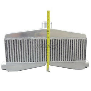 Cxracing Universal 2in 1out Twin Turbo Intercooler 24 X7 X3 5 Core Size