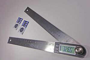Digital Electronic Miter Angle Finder Protractor Rule 11