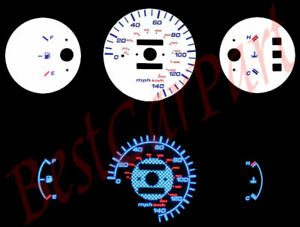 92 95 Civic Dx Mt Blue Indiglo Glow White Gauges