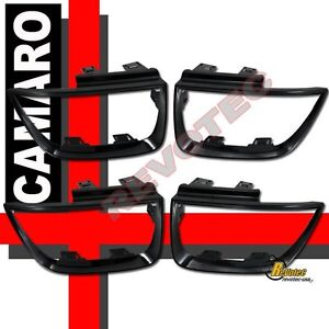 2010 2013 Chevy Camaro Lt Ls Ss Tail Light Bezel Covers Glossy Black Paintable