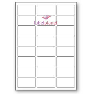 24 Per Page White Blank A4 Sticky Address Addressing Laser Labels Label Planet