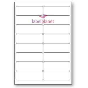 16 Per Page White Blank A4 Sticky Address Addressing Laser Labels Label Planet