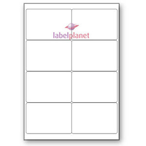 8 Per Page White Blank A4 Sticky Address Addressing Laser Labels Label Planet