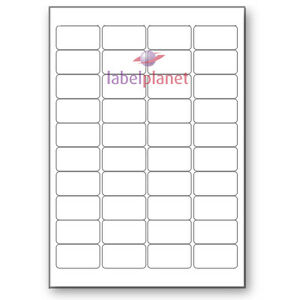 40 Per Page White Blank A4 Sticky Address Addressing Laser Labels Label Planet