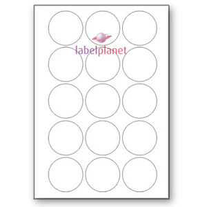 15 Per Page White A4 Round Circular Self adhesive Sticky Labels Label Planet