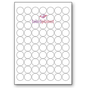 70 Per Page White A4 Round Circular Self adhesive Sticky Labels Label Planet