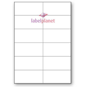 12 Per Page White Blank A4 Sticky Address Addressing Laser Labels Label Planet