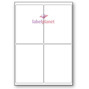 4 Per Sheet Blank Transparent Polyester Waterproof A4 Clear Labels Label Planet