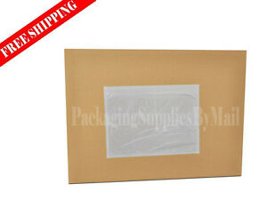5000 Pieces 7 5 X 5 5 Clear Packing List Envelopes Plain Face Top Load
