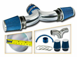 Bcp Blue 99 04 Jeep Grand Cherokee 47l V8 Dual Twin Air Intake System Filter