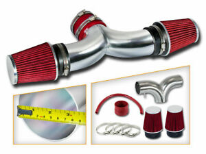 Bcp Red 99 04 Jeep Grand Cherokee 4 7l V8 Dual Twin Air Intake System Filter