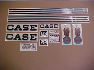 Case Sc Decal Set Complete And New