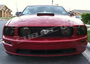 Mustang Smoked Tinted Head Light Covers Vinyl 05 09