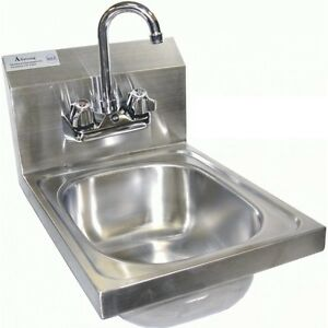 Stainless Steel Wall Mount Hand Sink 12 x17 Etl nsf no Lead
