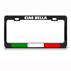 Metal License Plate Frame Chiao Bella Italy Italian Car Accessories Chrome