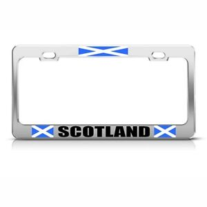 Scotland Scottish Flag Country Metal License Plate Frame Tag Holder