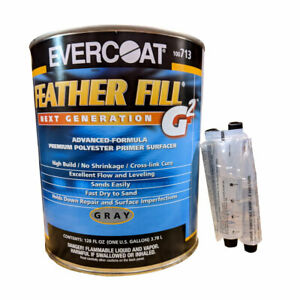 Gallon Evercoat Feather Fill G2 Gray Polyester Primer Surfacer W Activator 713