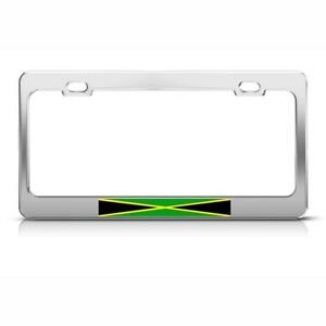 License Plate Frame Jamaica Jamaican Flag Country Car Accessories