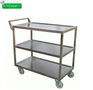 Heavy Duty S s Bus Cart 16 3 8 W X 29 1 2 L