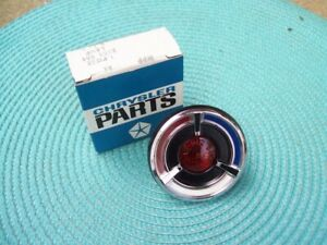 1968 Nos Mopar Chrysler 300 Rear Side Marker Lens Bezel Red White Blue Chryco