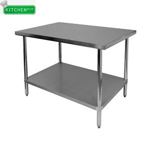 Flat Top Work Table All Stainless Steel 30 x60